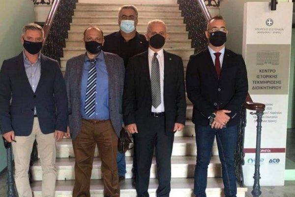 Κατάθεση Υπομνήματος Ομοσπονδιών στο γραφείου του Υφυπουργού Μακεδονίας – Θράκης κ. Σταύρου ΚΑΛΑΦΑΤΗ